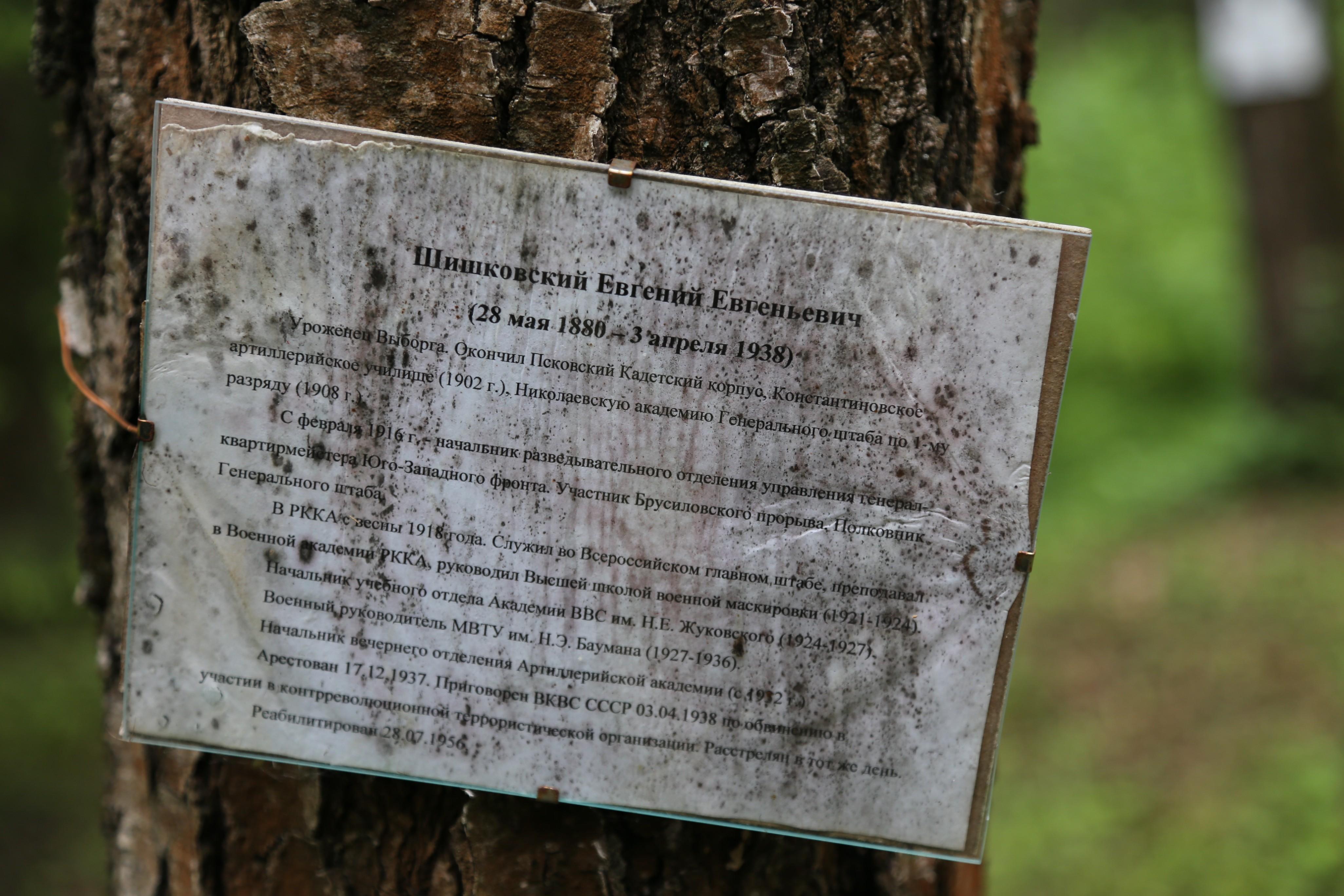Памятная табличка Е.Е. Шишковскому. Фото 07.06.2018