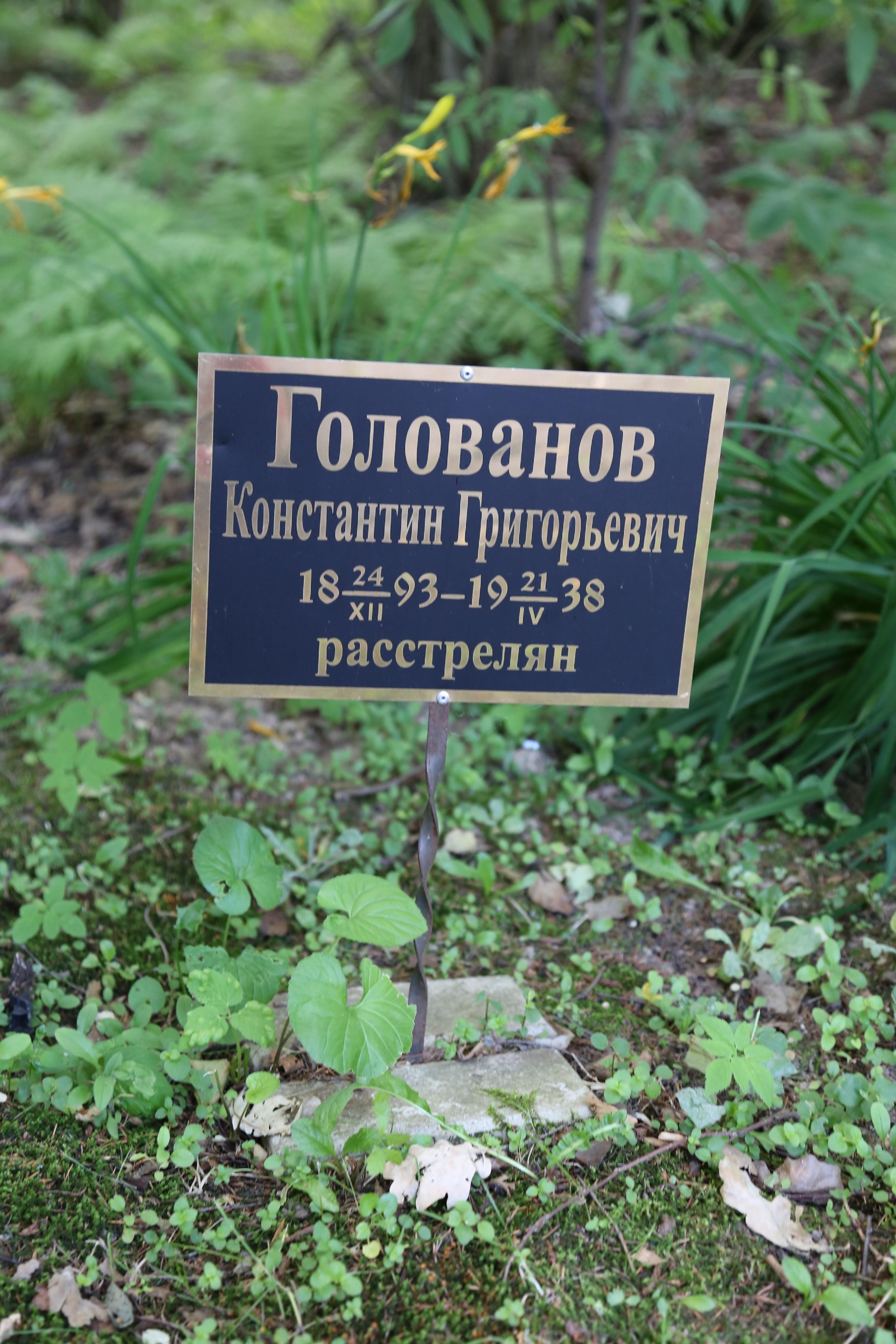 Памятная табличка К.Г. Голованову. Фото 22.06.2018.