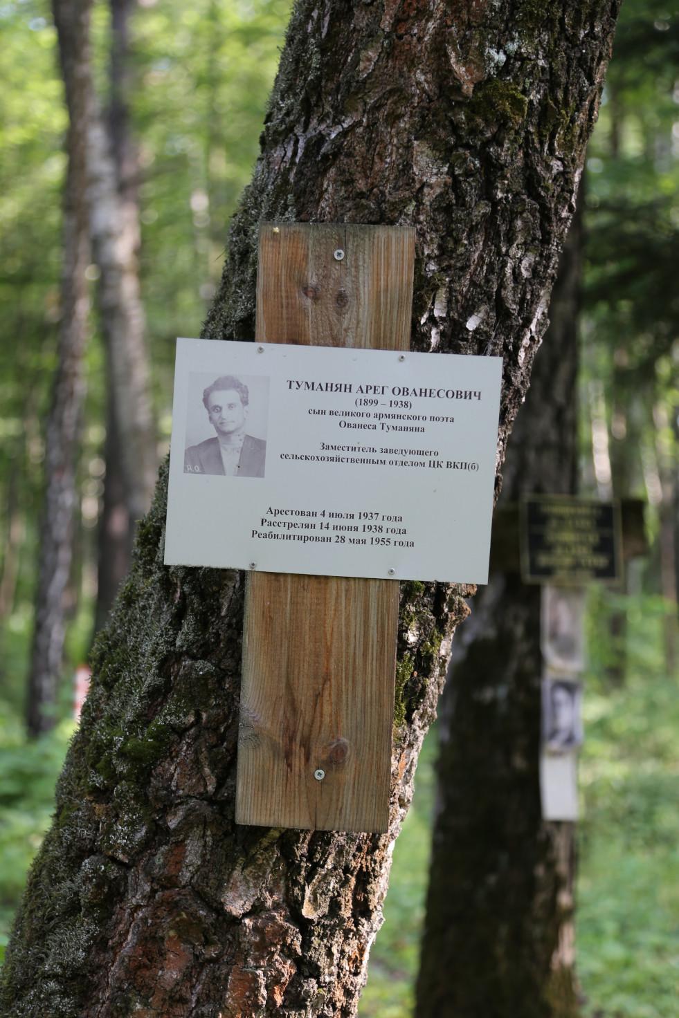 Памятный крест А.О. Туманяну. Фото 22.06.2018.
